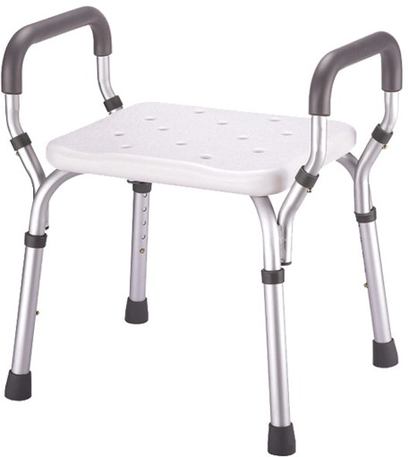 Essential Medical Molded Shower Bench With Arms Amp No