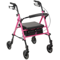 Breast Cancer Awareness Adjustable Height Rollator