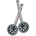 Walker Wheels with Two Sets of Rear Glides for Use with Universal Walker, 5""