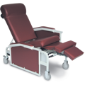 Drop Arm Convalescent Recliner with Tray